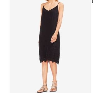 Vince Camuto Eyelet Scallop Dress NWT
